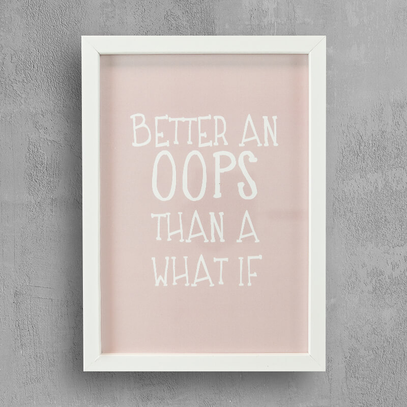 Wall Decor: Powerful and Inspirational Quote in White Frame ...