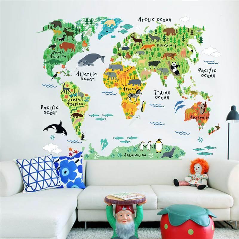 World map decal for children cheezainetc world map decal for children gumiabroncs Gallery