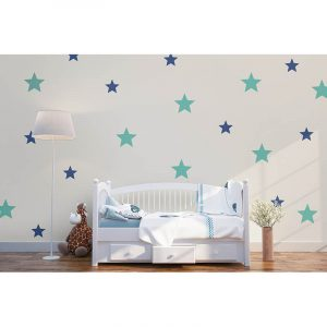 Decal stickers with stars in grey