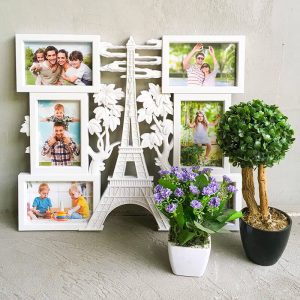 """""""Eiffel Tower photo collage with 6 frames """""""