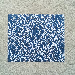 Floral Blue Napkins with grey background