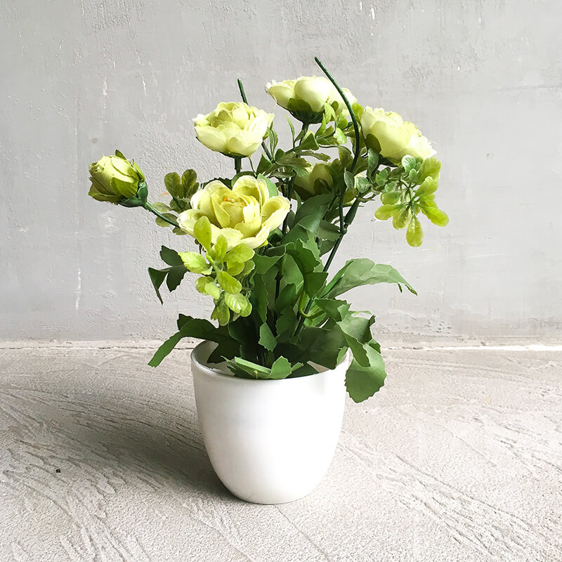 Cheezain etc. & Artificial flower Vases - Off White