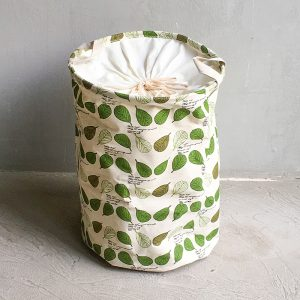 Leafy Laundry Basket with grey background