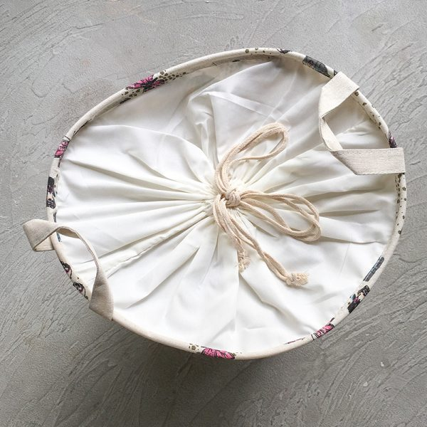 Leafy Laundry Basket with aerial view