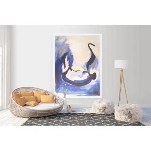 Abstract Swan Canvas