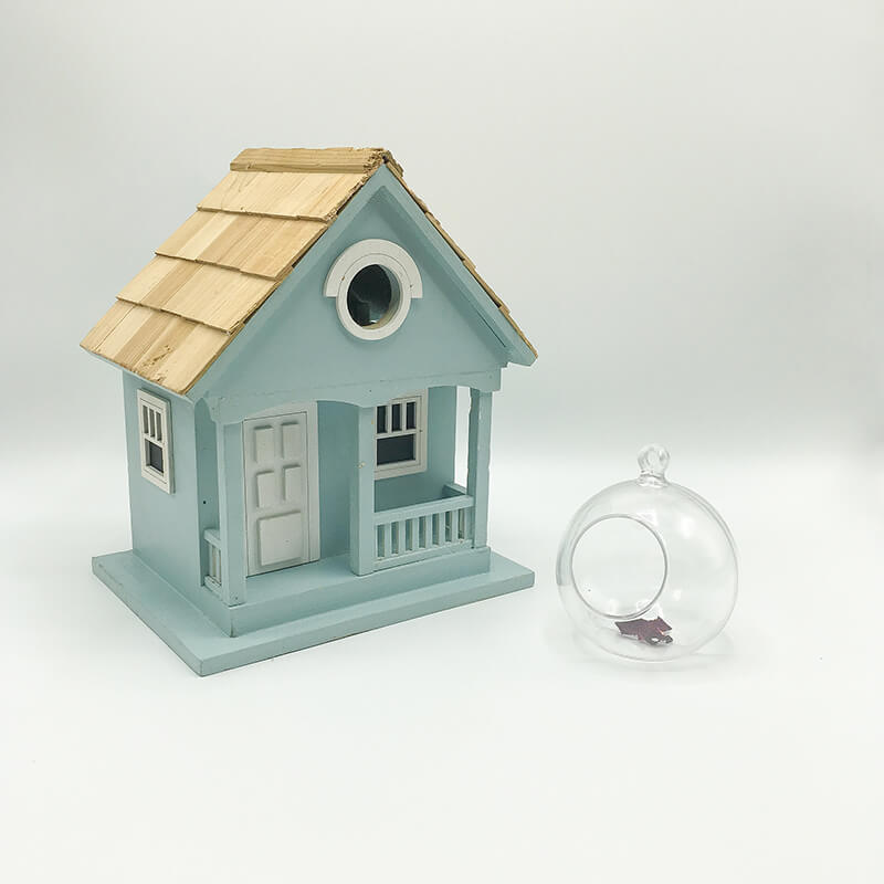 Home Decor Bird Houses Wooden Roof Cheezain Etc